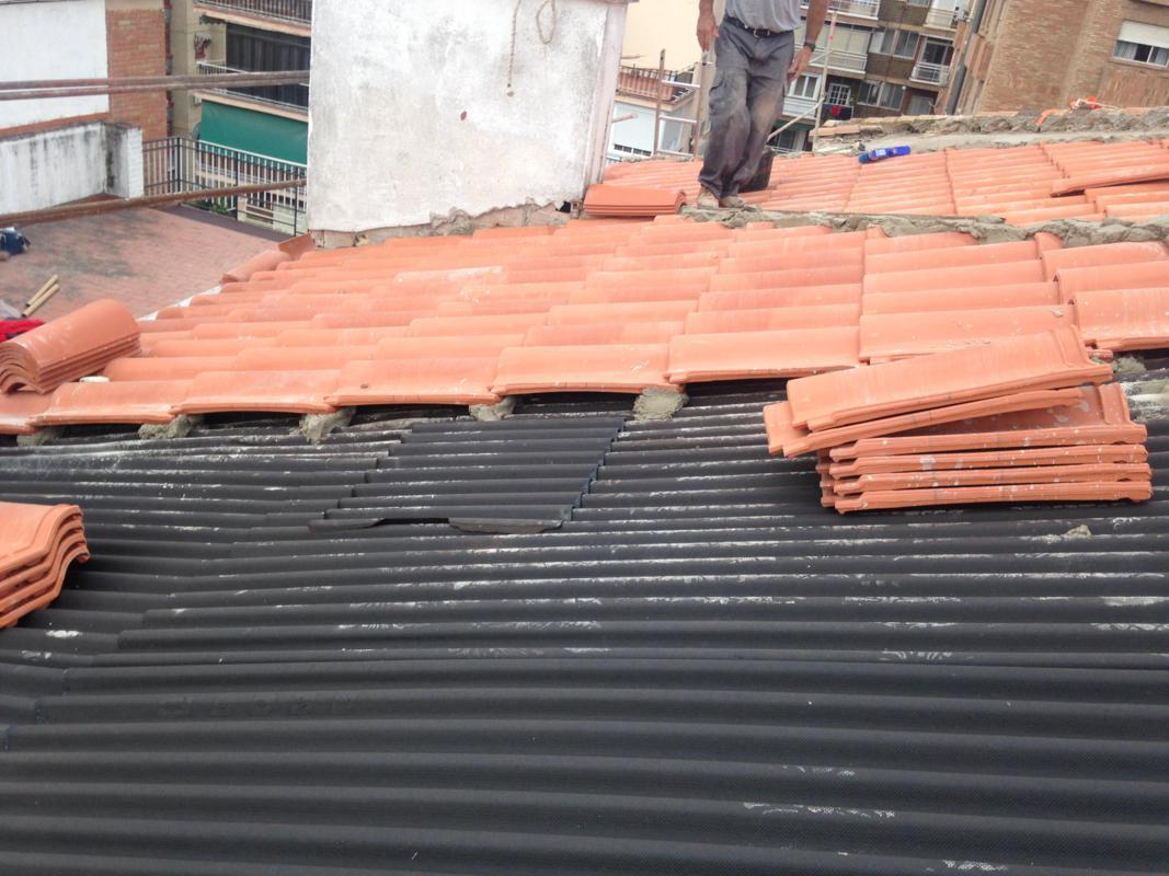 Colocación de tejas