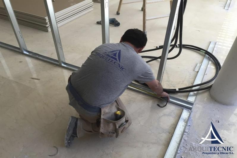 Colocación de estructura de pladur